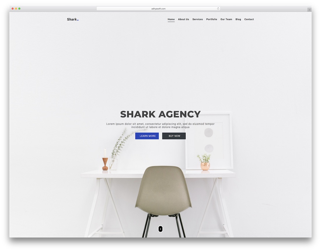 shark artist website template
