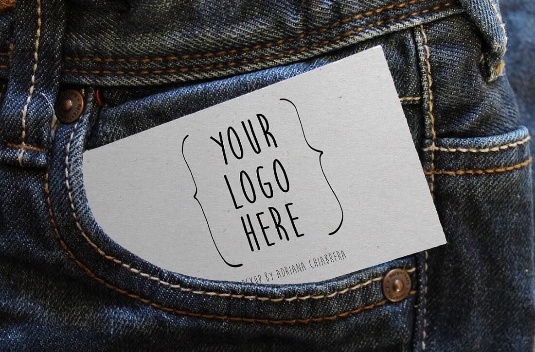 sheet out of jeans pocket mockup