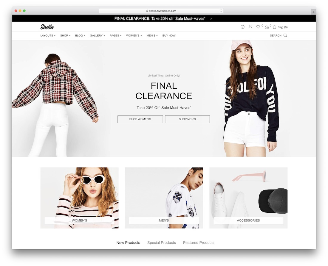 shella fashion ecommerce theme