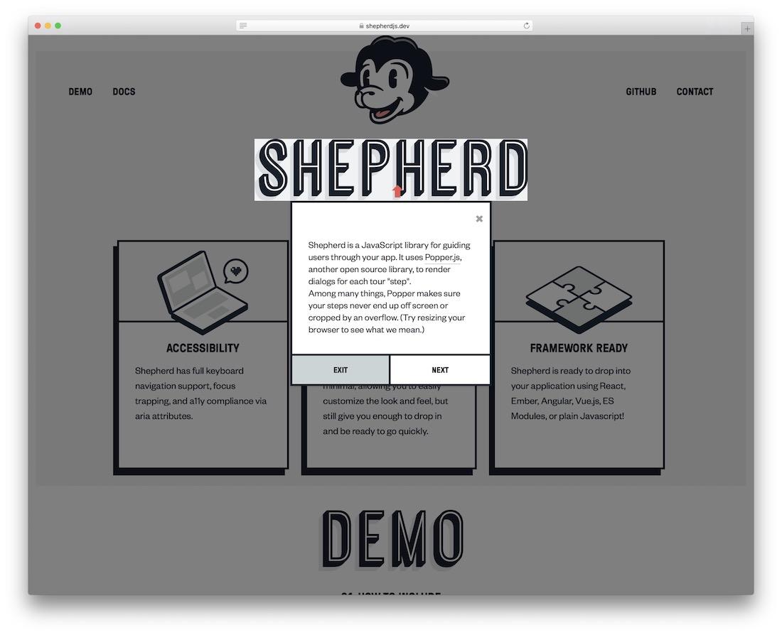 shepherd jquery plugin