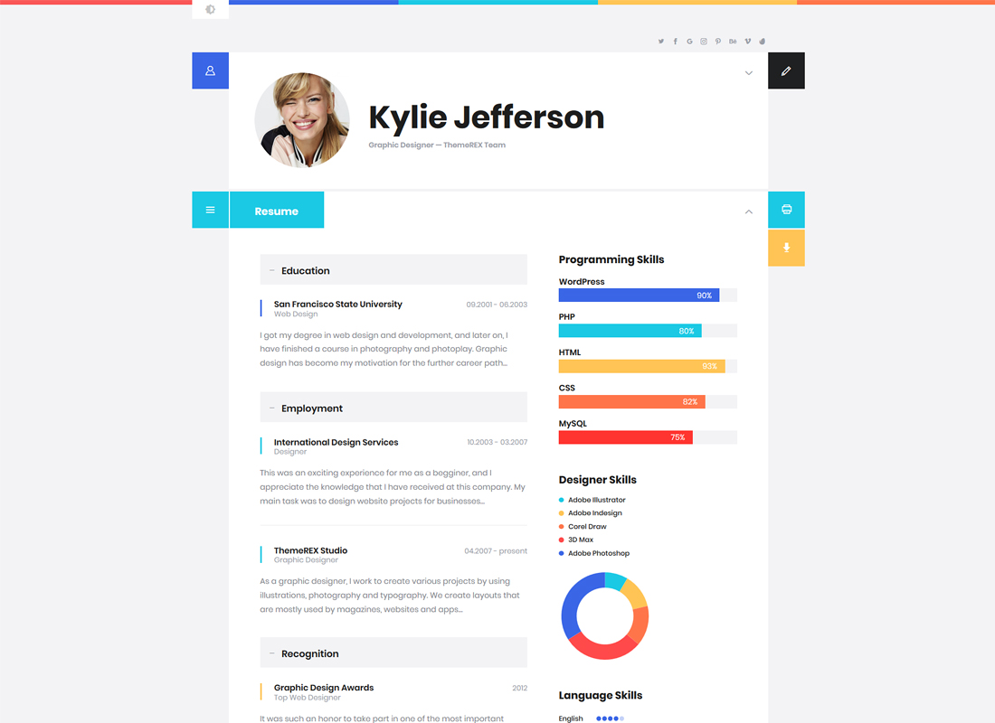 ShiftCV | Blog \ Resume \ Portfolio \ WordPress