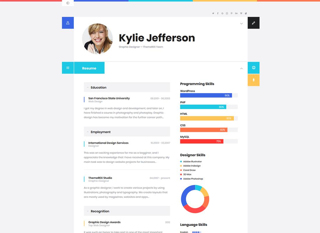 ShiftCV | Blog \ Resume \ Portfolio \ WordPress Theme