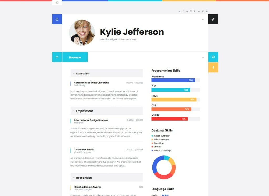ShiftCV | Blog  Resume  Portfolio  WordPress Theme