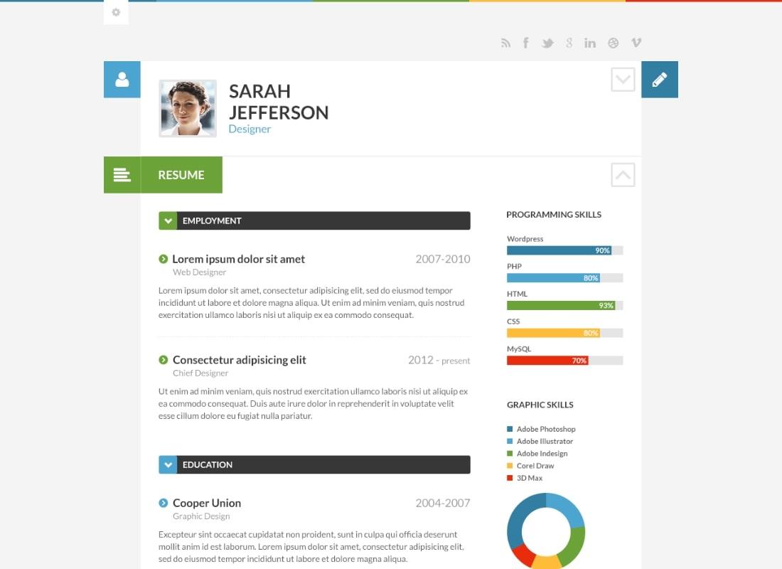 ShiftCV | Blog, Resume, Portfolio Website Template