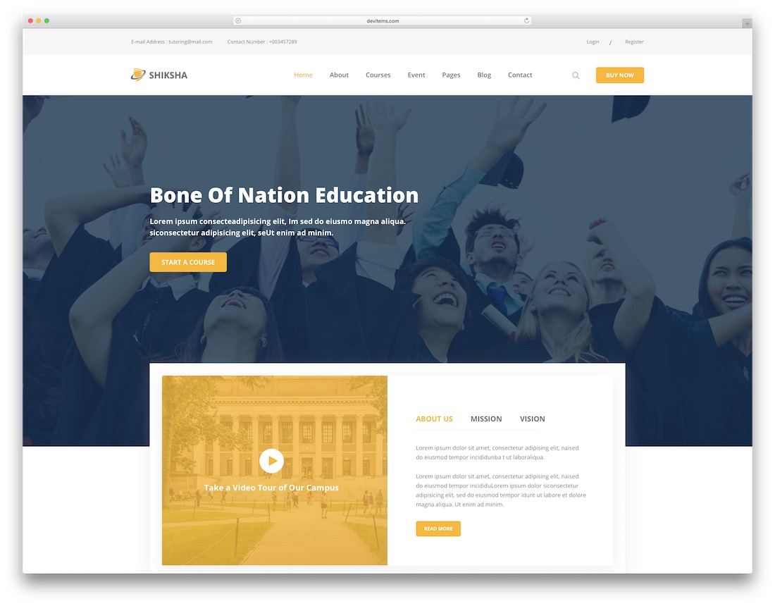 shiksha school website template