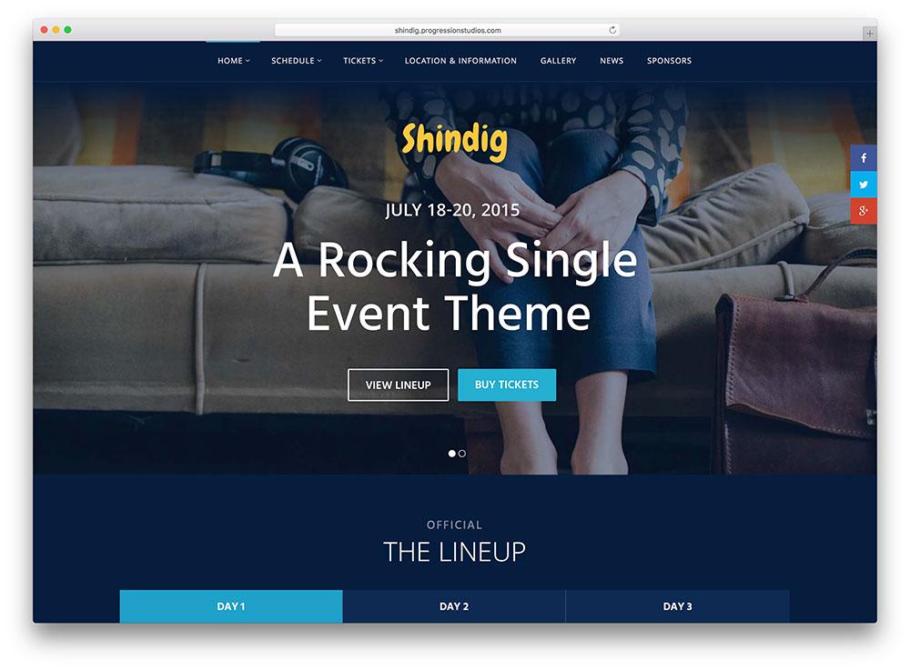 shindig-single-music-event-theme