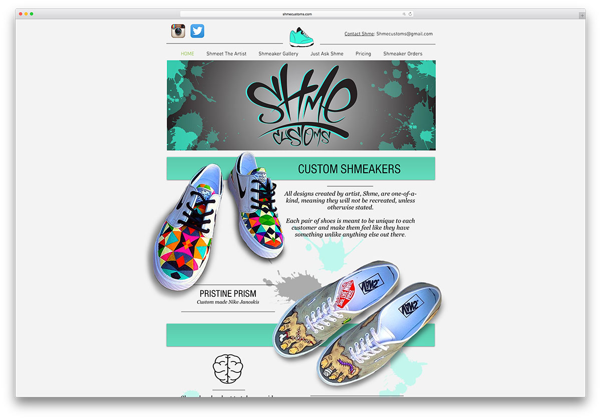 shmecustoms-sneakers-store-using-wix