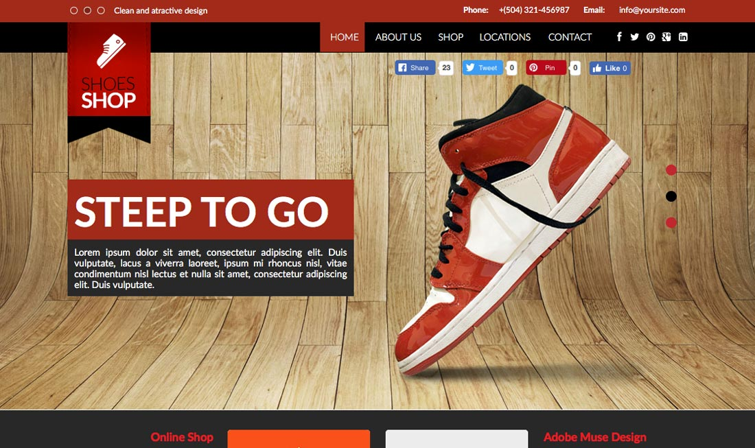 20+ Ecommerce Adobe Muse Templates For A Stunning Store 2017