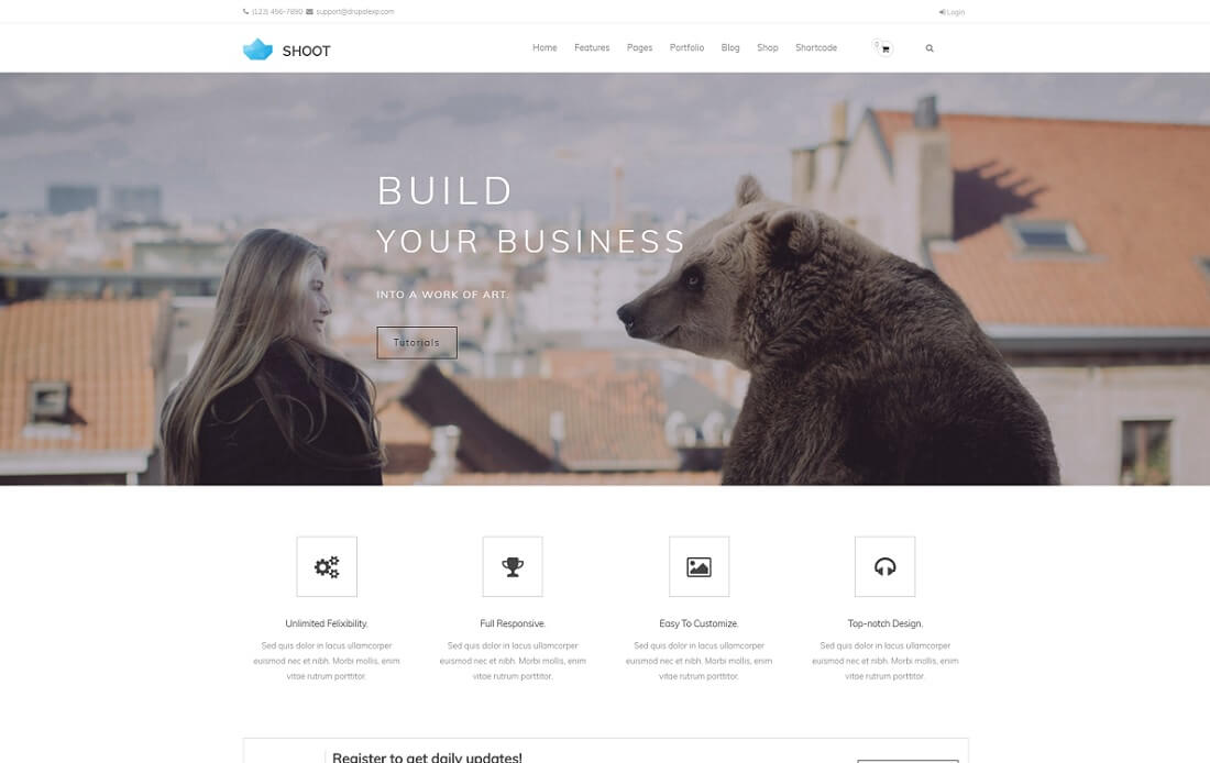 shoot drupal business template