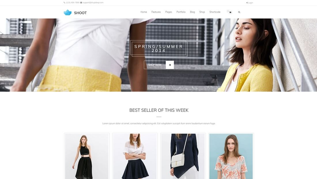 shoot drupal commerce template