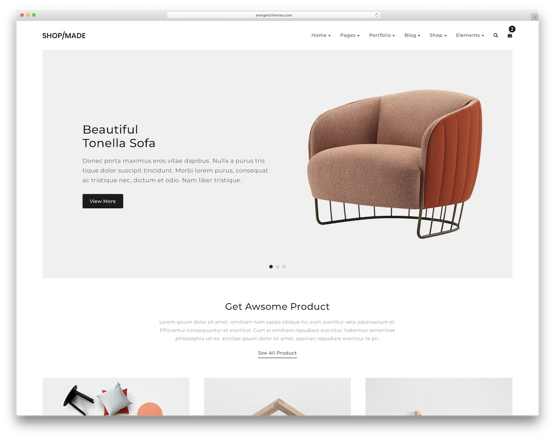 shop made ecommerce website template