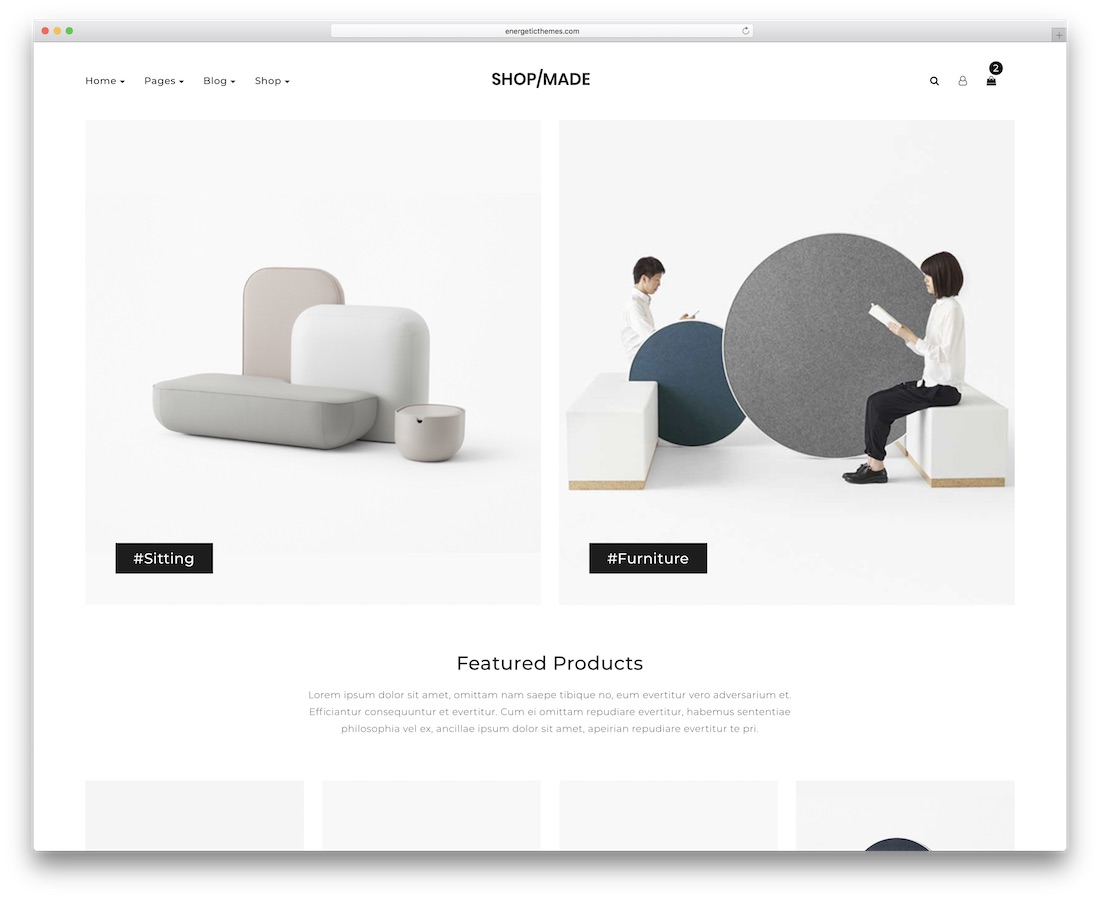 shop made minimal website template