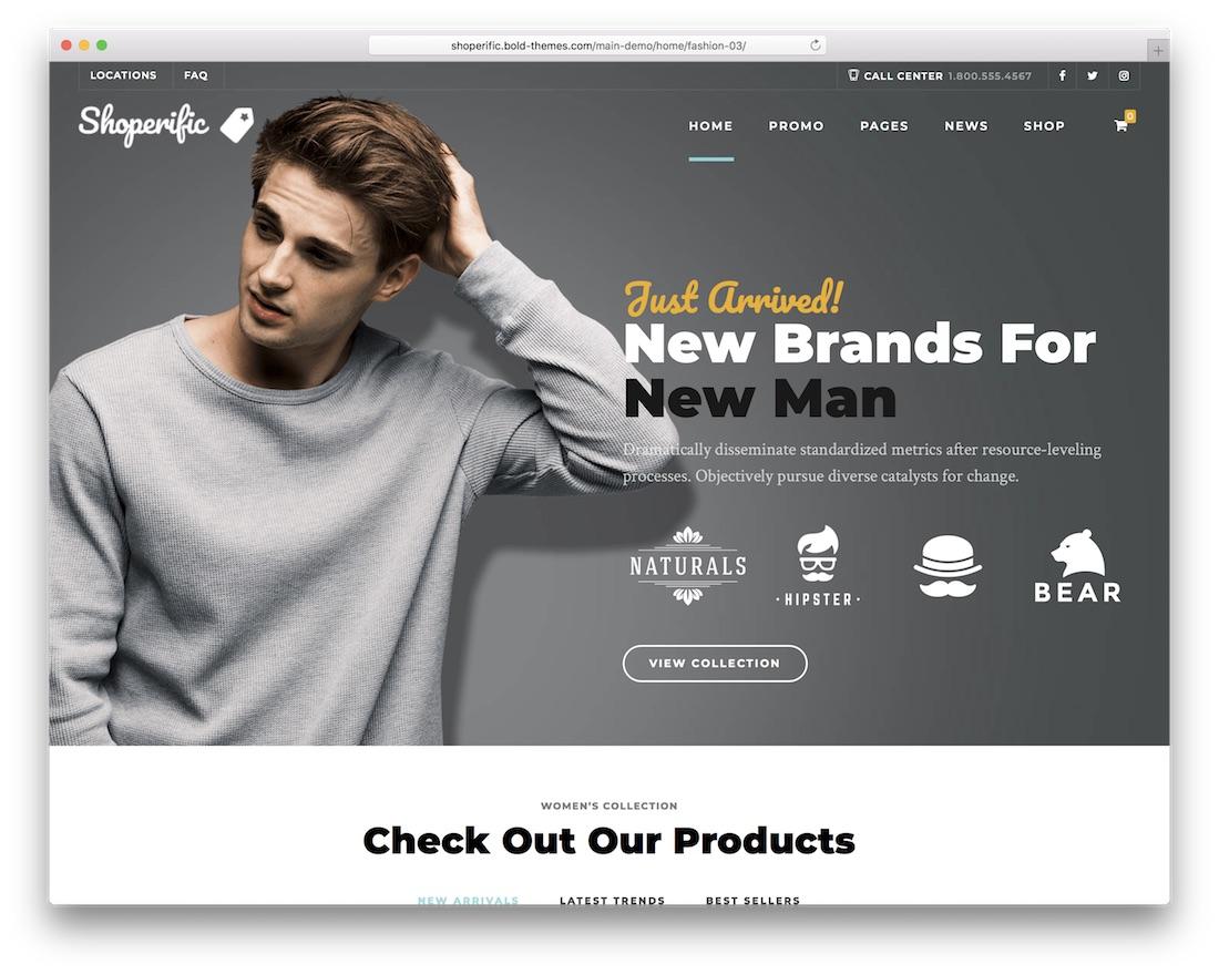shoperific fashion ecommerce theme