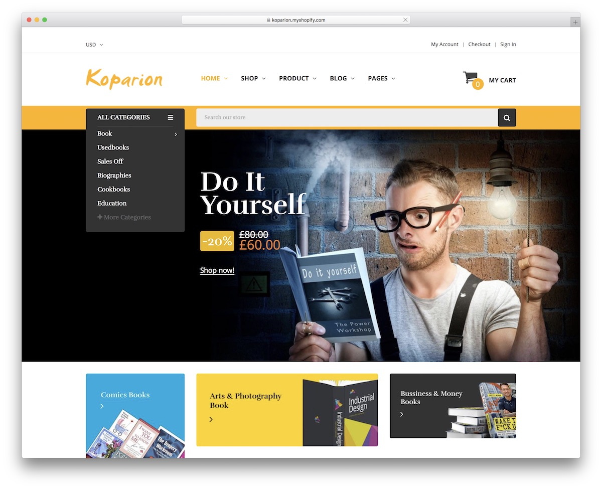 9 Best Responsive Shopify Bookstore Themes 2020