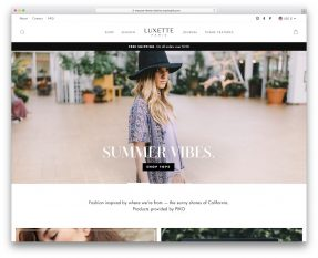 Shopify Parallax Theme