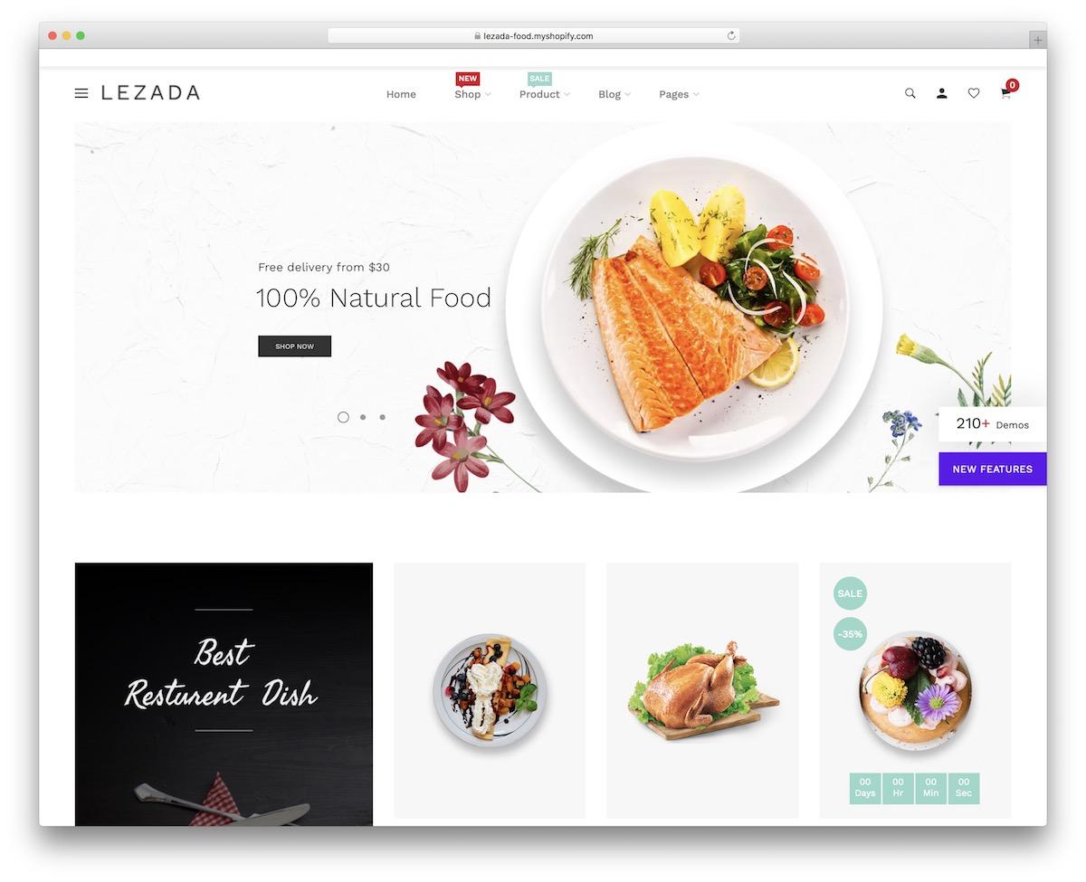 Shopify Restaurant Themes
