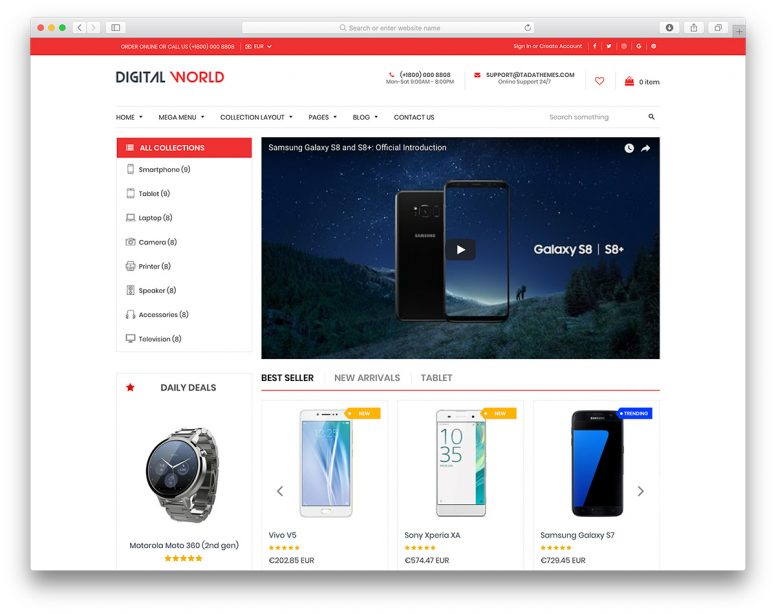 17 Shopify Technology Themes For Hi-Tech Online Stores 2018