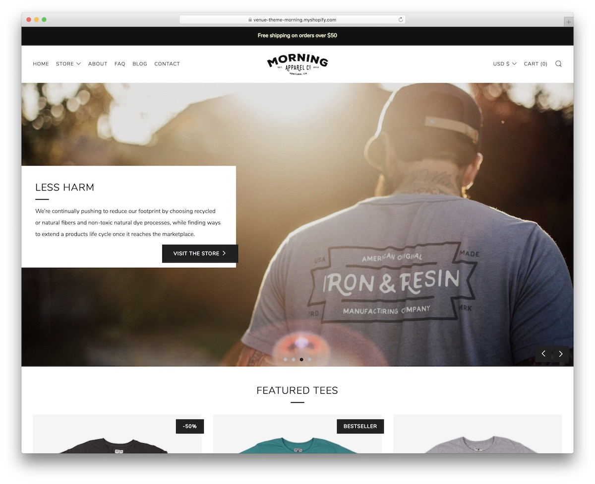 Shopify Theme For T-shirts