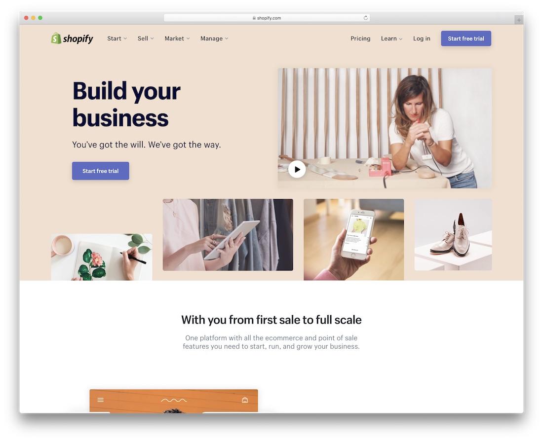 shopify website builder for mac