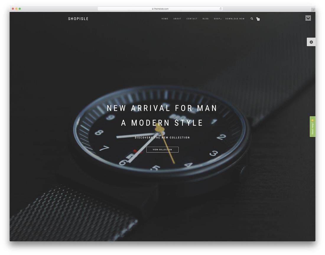 shopisle free html5 website template