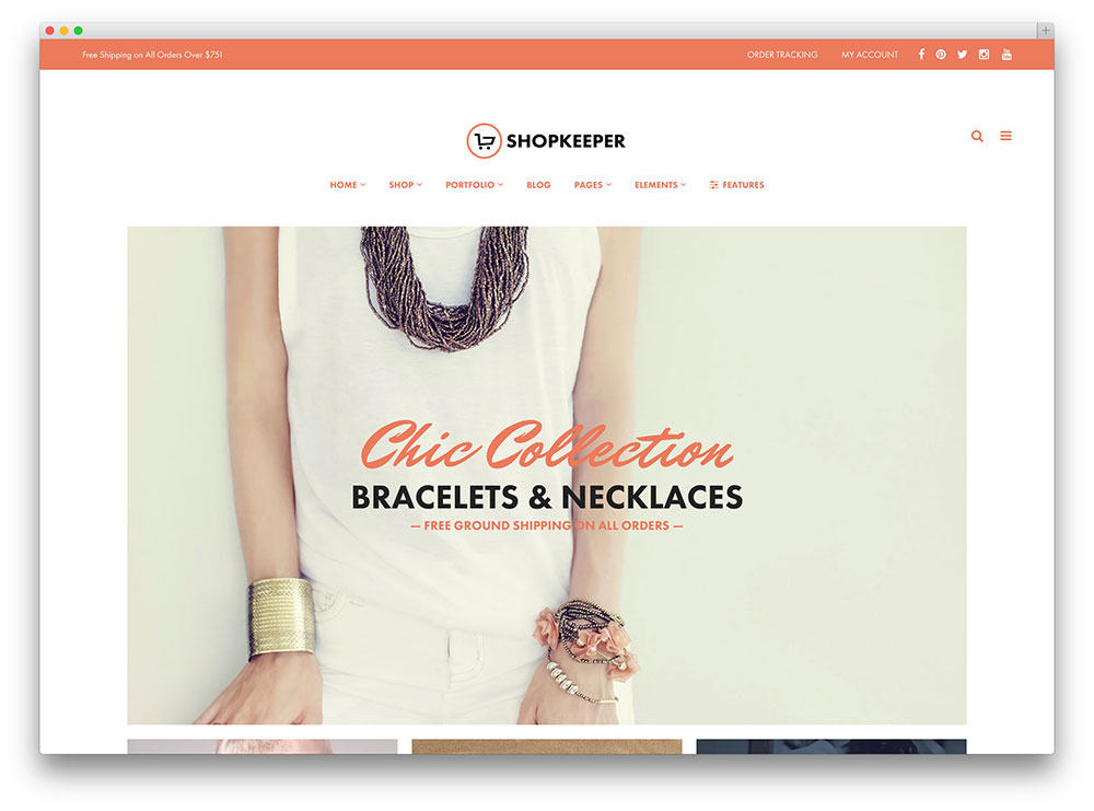 shopkeeper - clean ecommerce theme