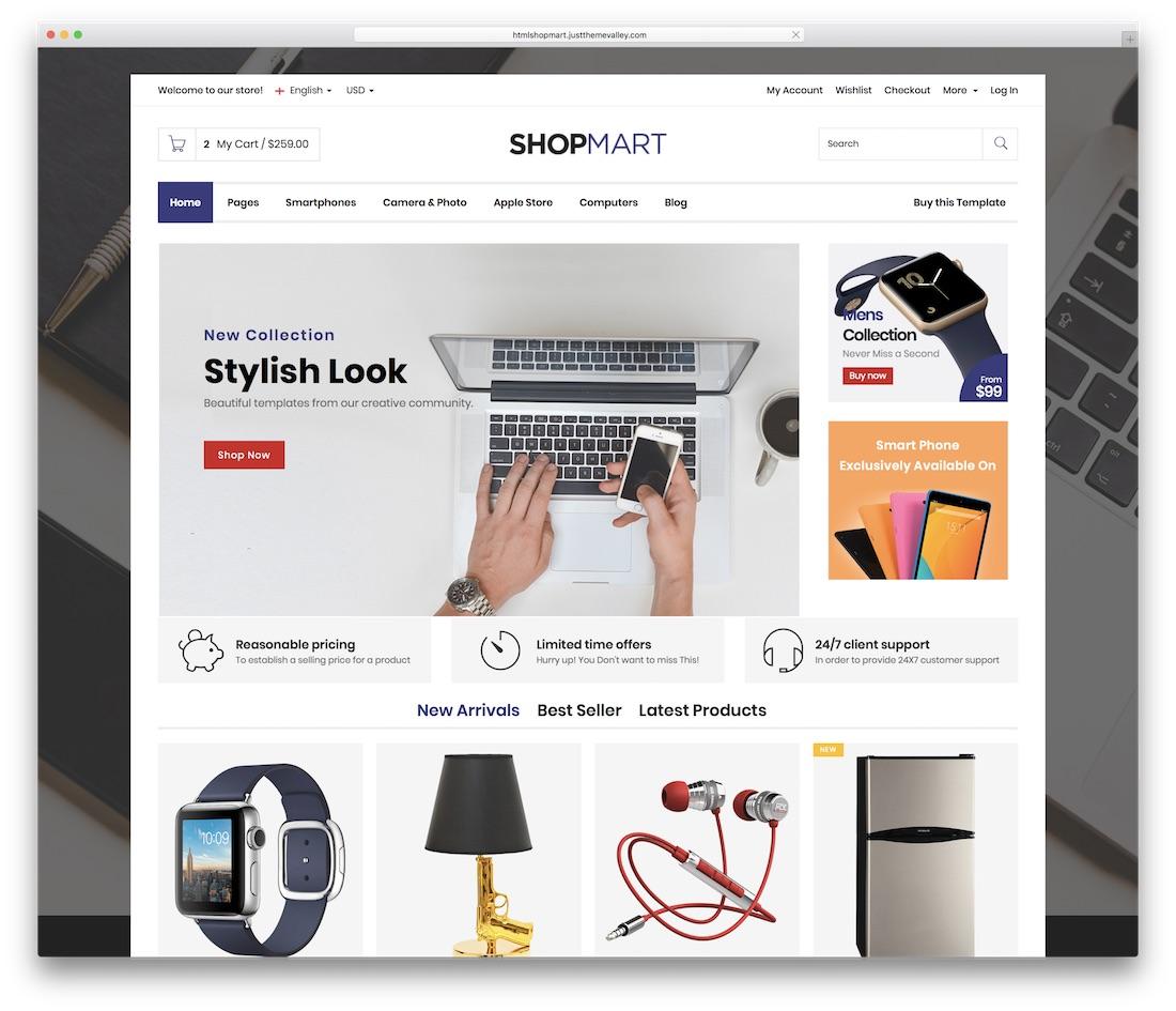 shopmart website template