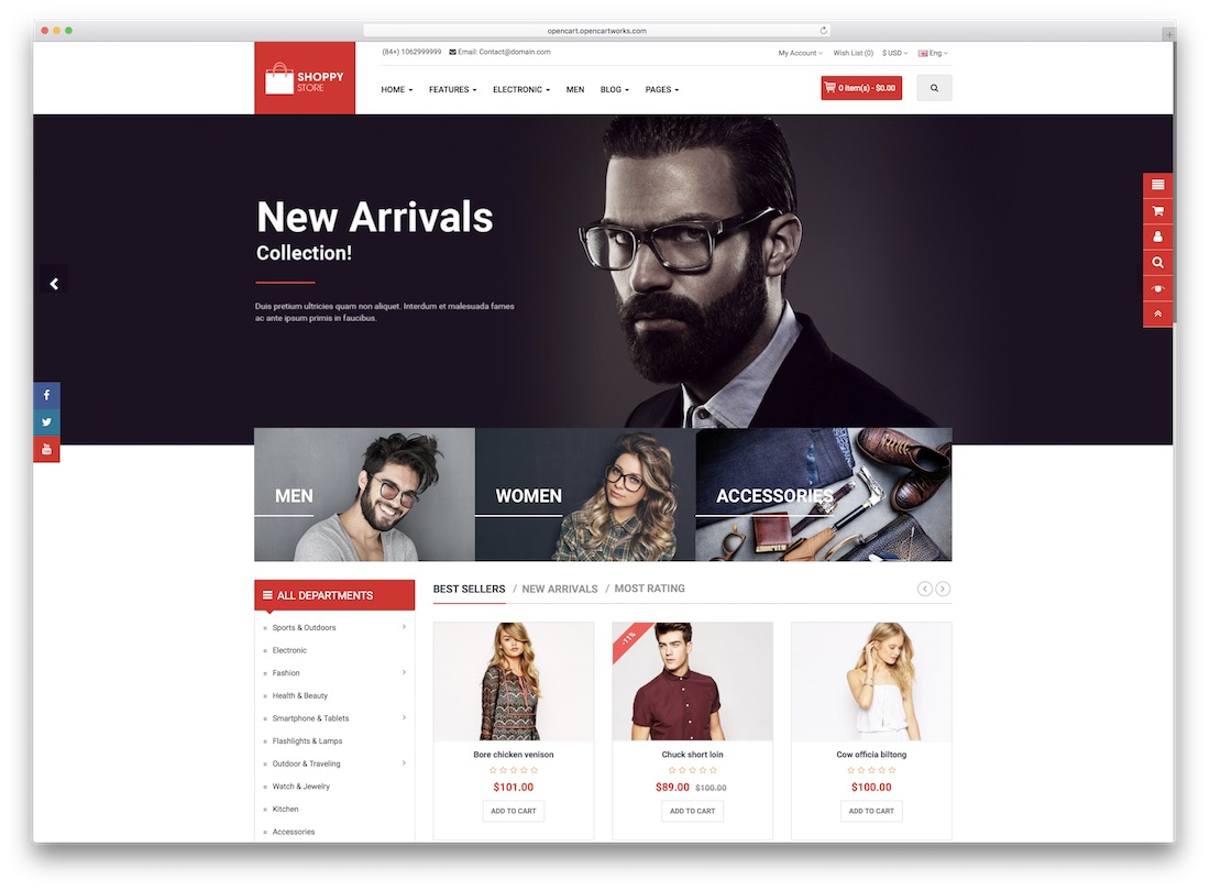 shoppystore best opencart theme