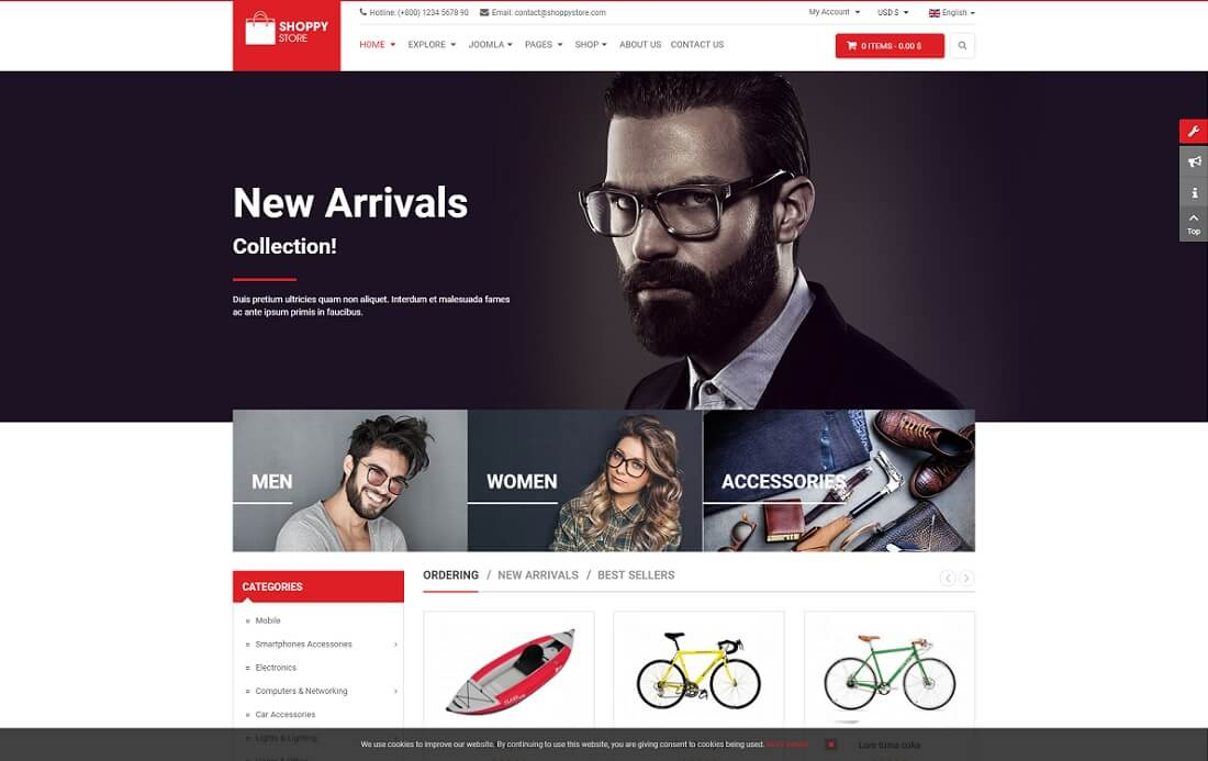 shoppystore virtuemart template