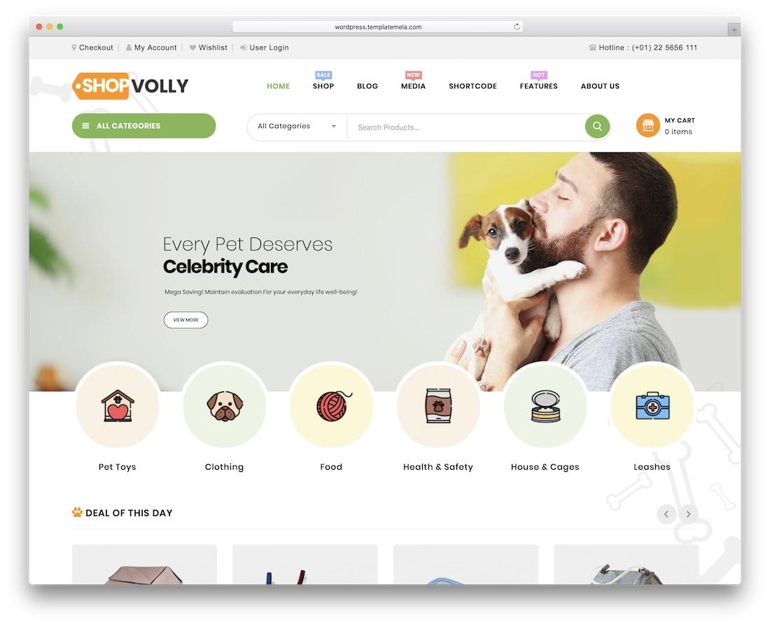 shopvolly cheap wordpress theme