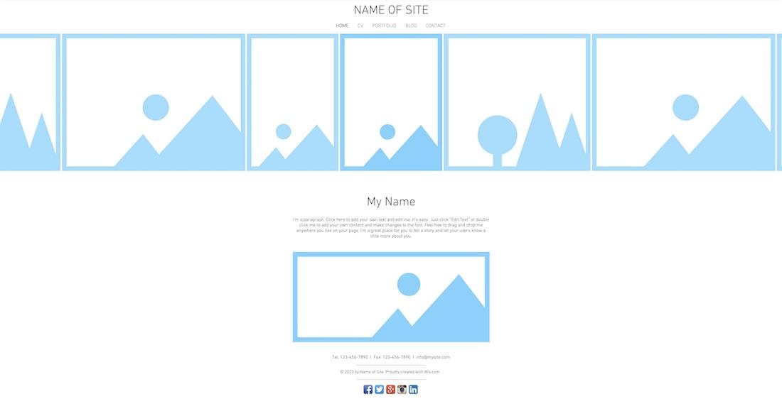 showcase portfolio blank website template