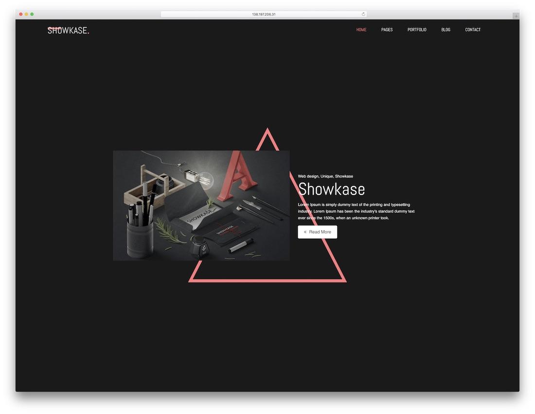 showkase cheap website template