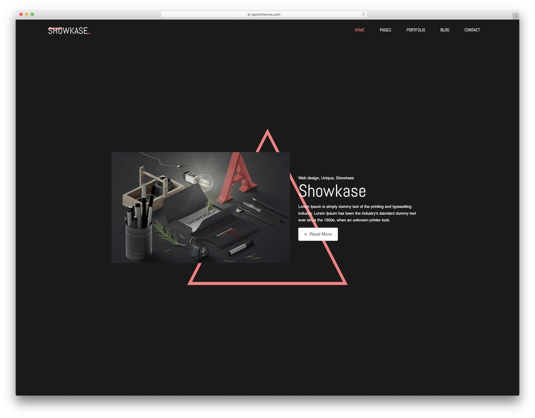 showkase designer website template