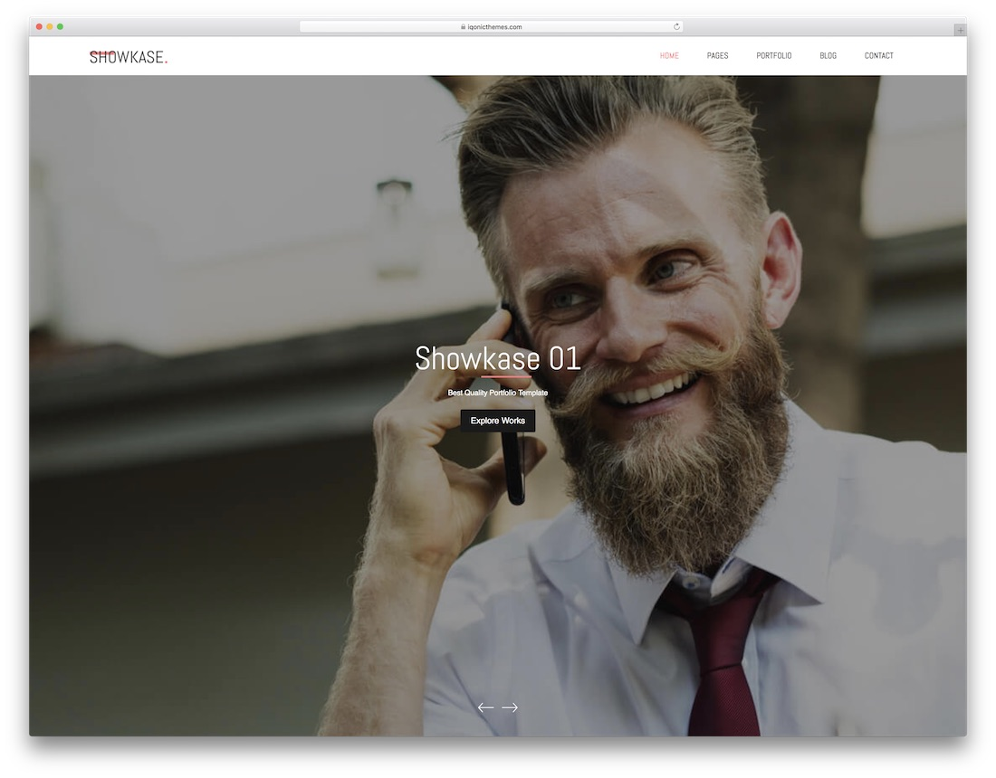 showkase graphic design website template