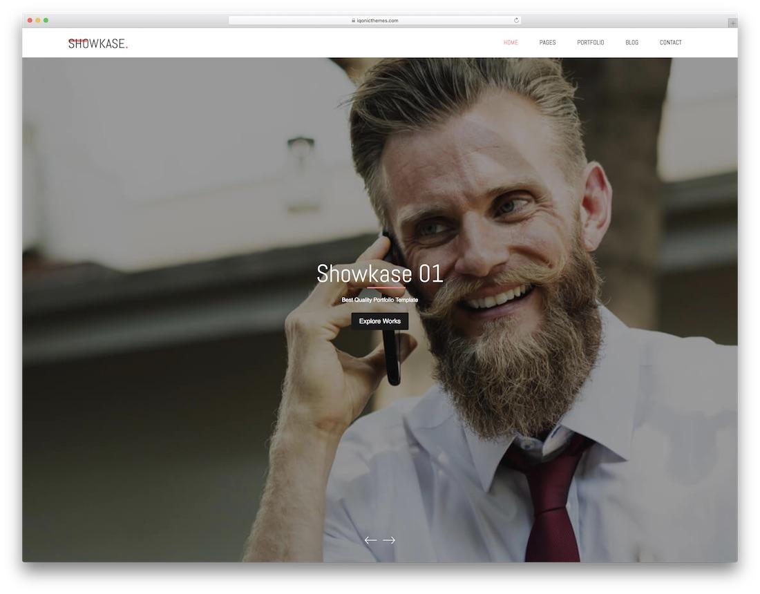 showkase graphic design website template