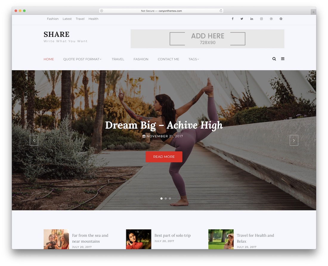 shree free wordpress theme