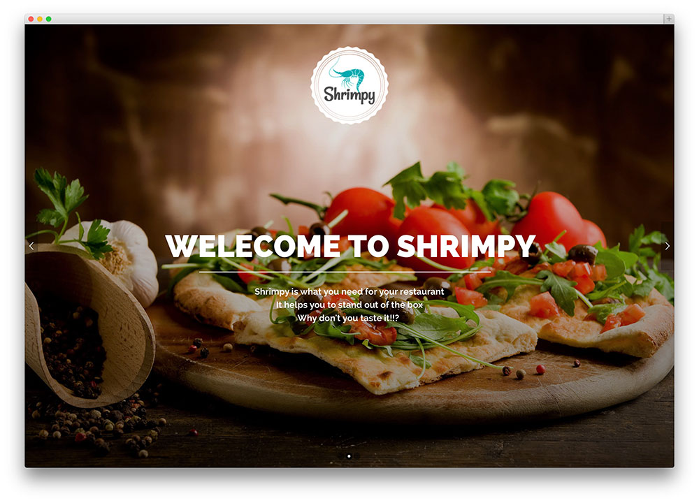 shrimpy WordPress theme
