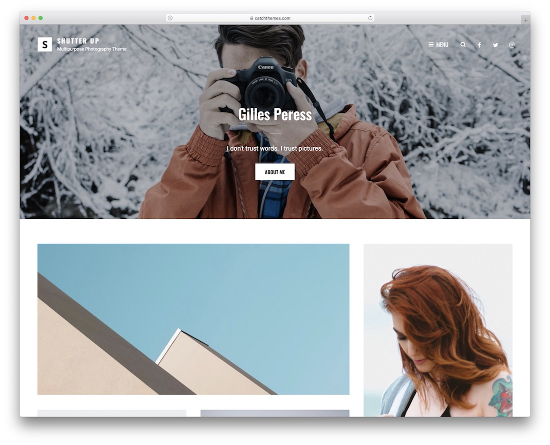 shutter up free minimalist wordpress theme