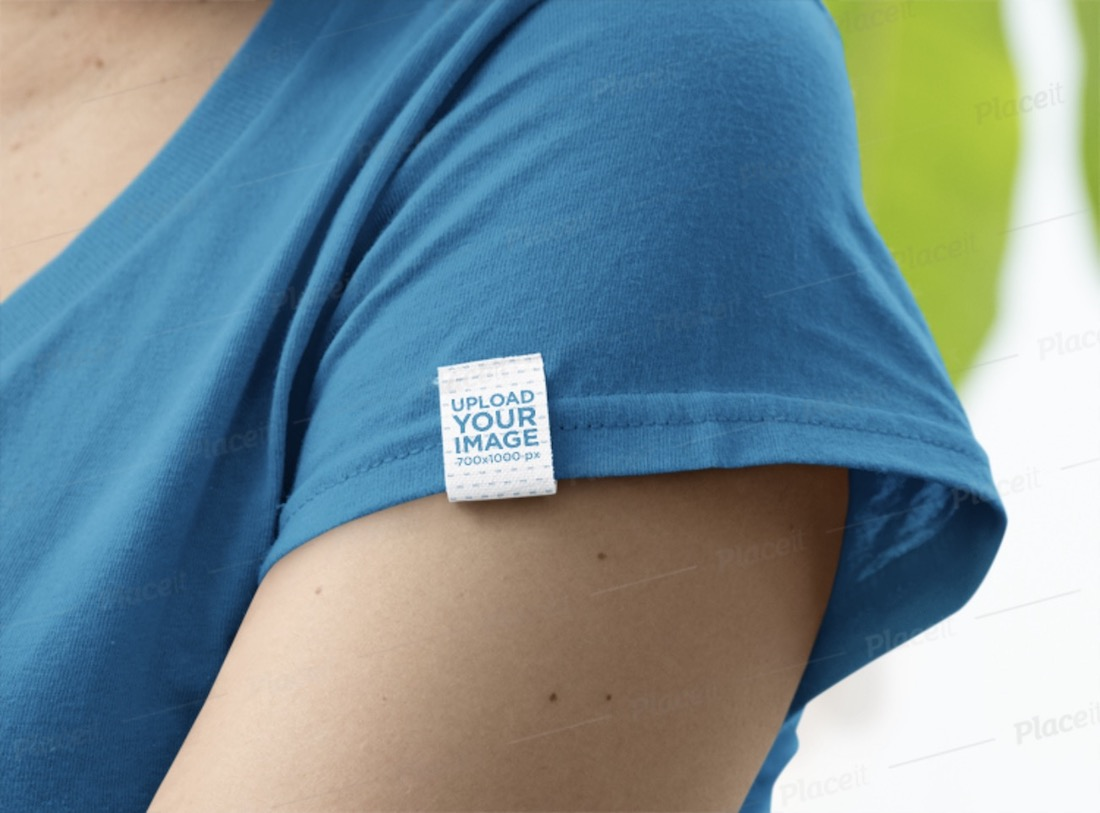 side clothing label logo mockup