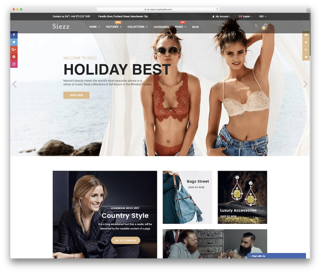 siezz shopify technology theme