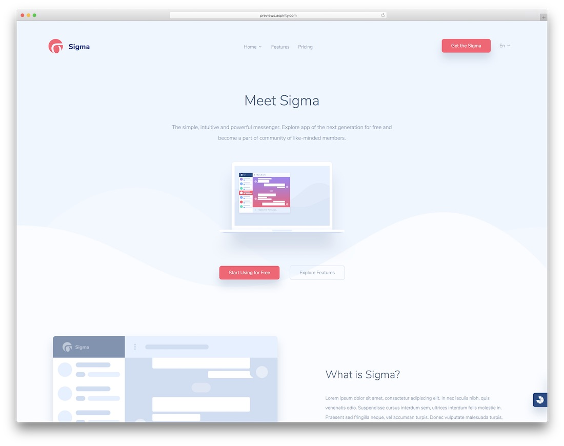 sigma simple bootstrap template