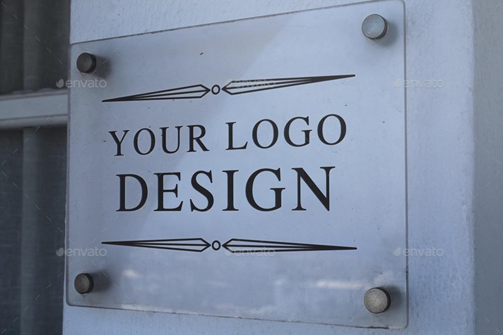 signage logo mockups