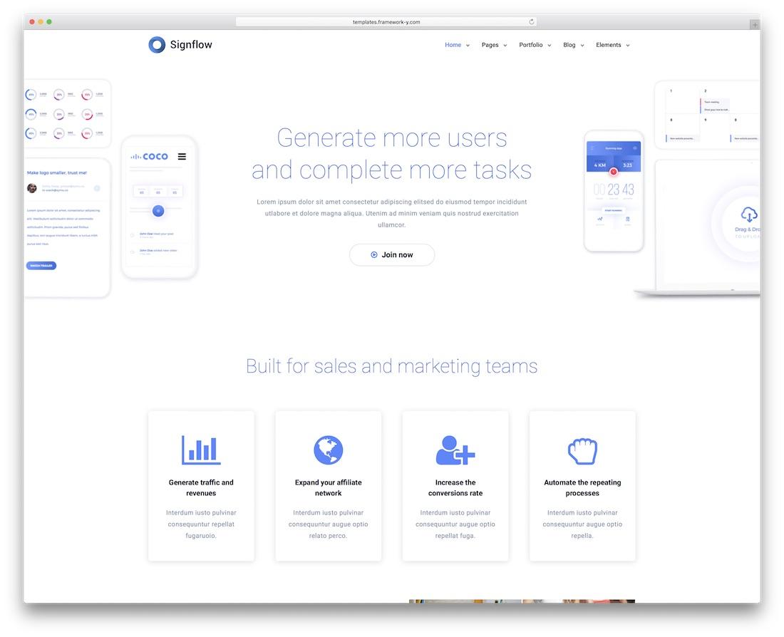 signflow modern bootstrap business website template