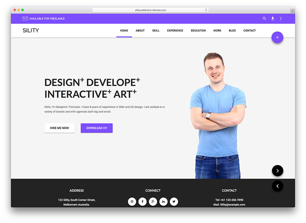 sility - resume theme for professionals