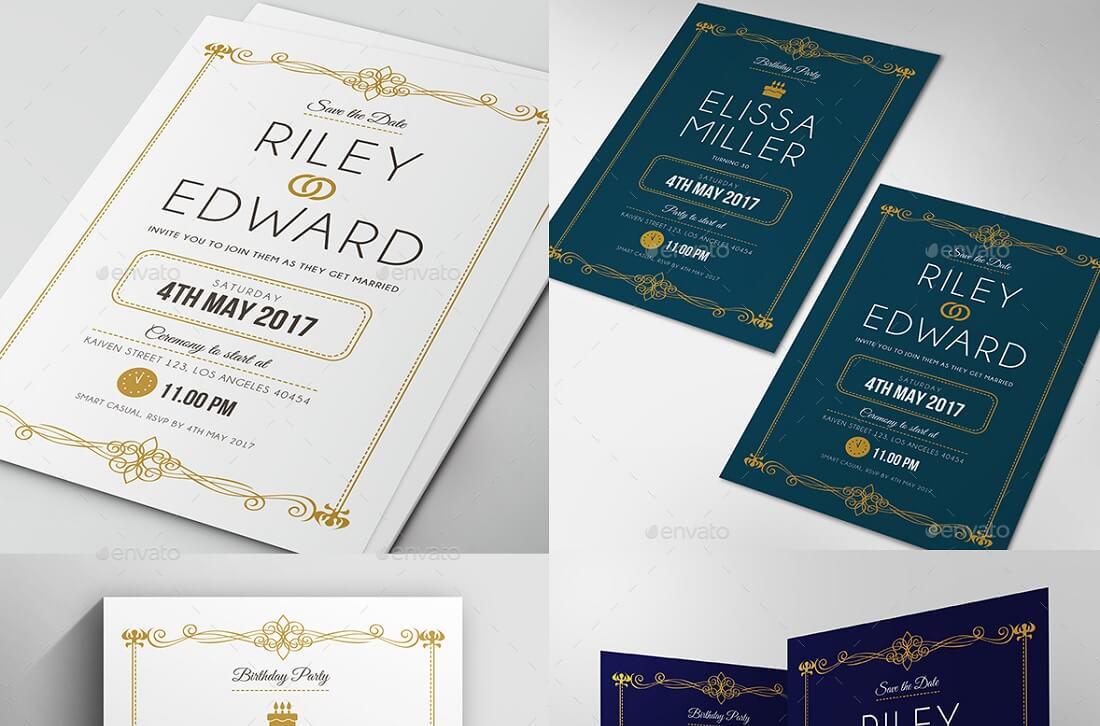 simple elegant invitation template