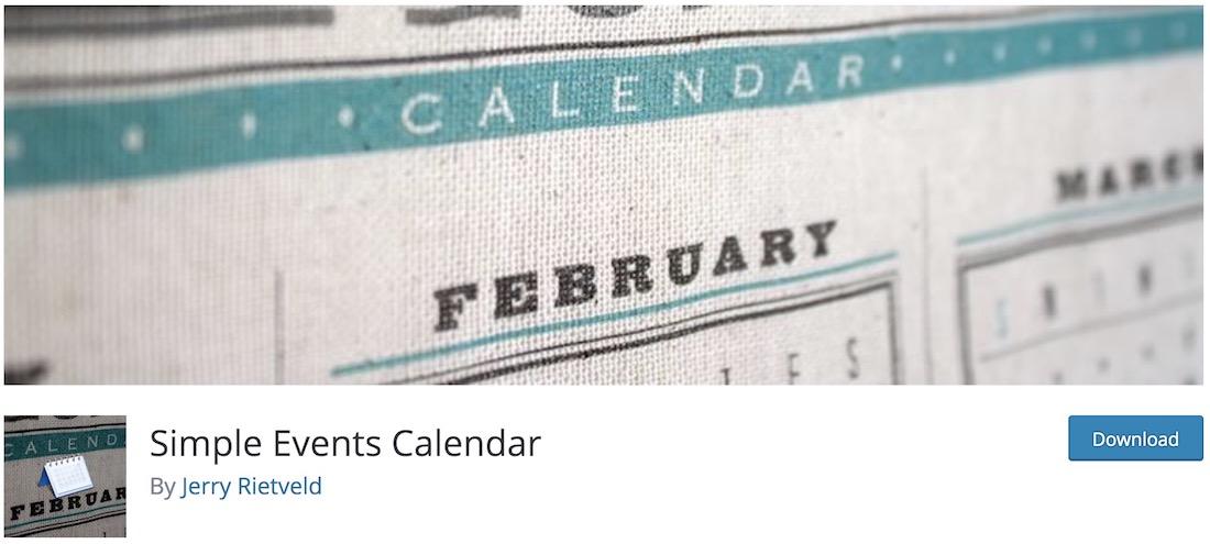 simple events calendar wordpress plugin