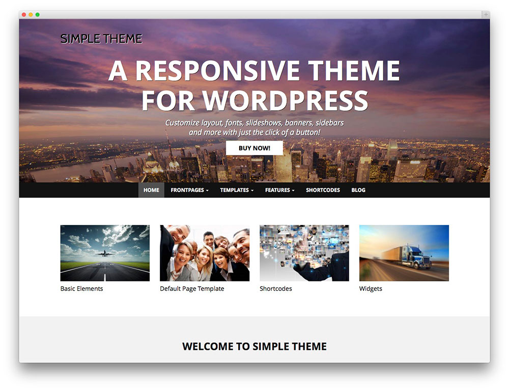 Simple - Thème WordPress