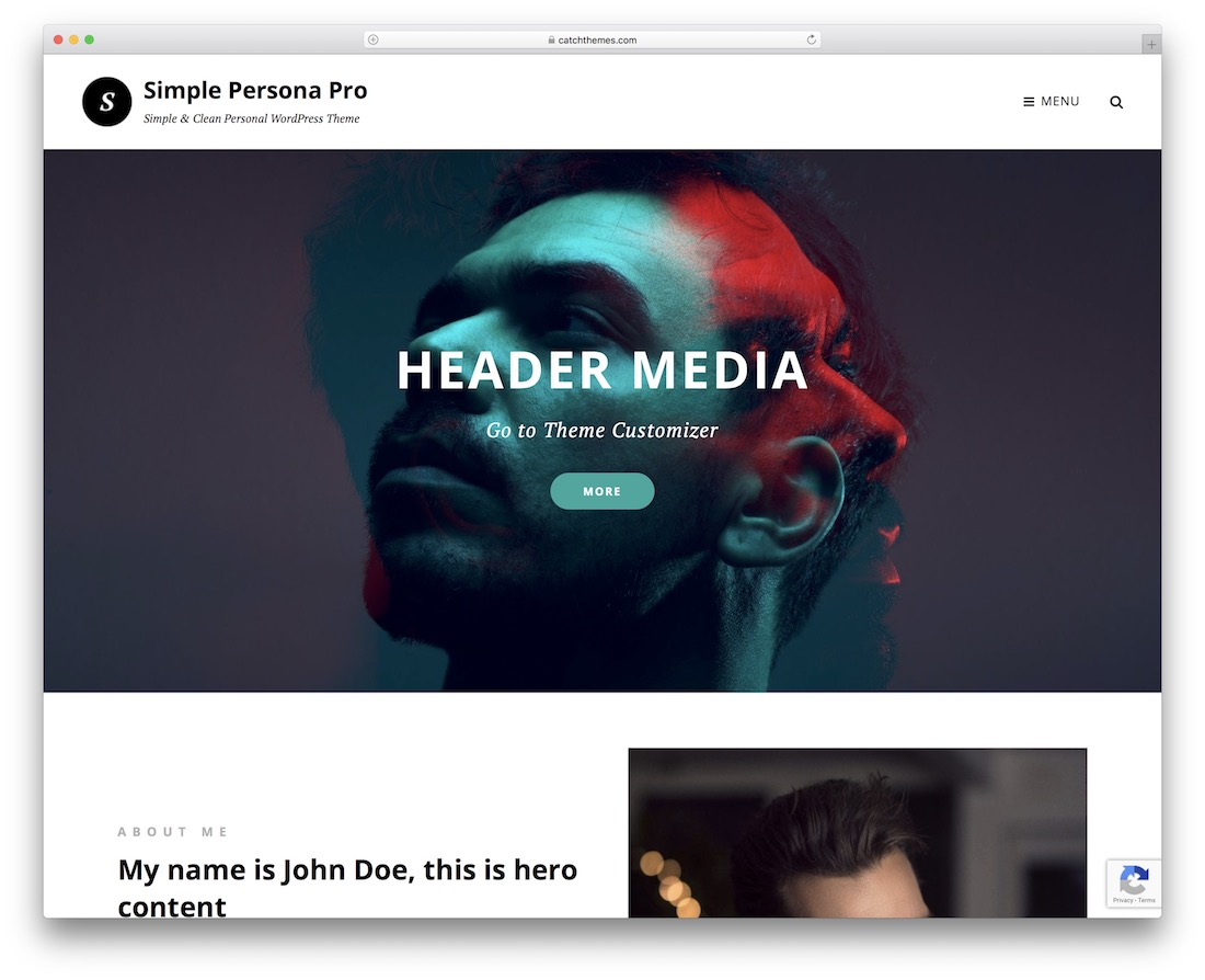 simple persona free wordpress theme