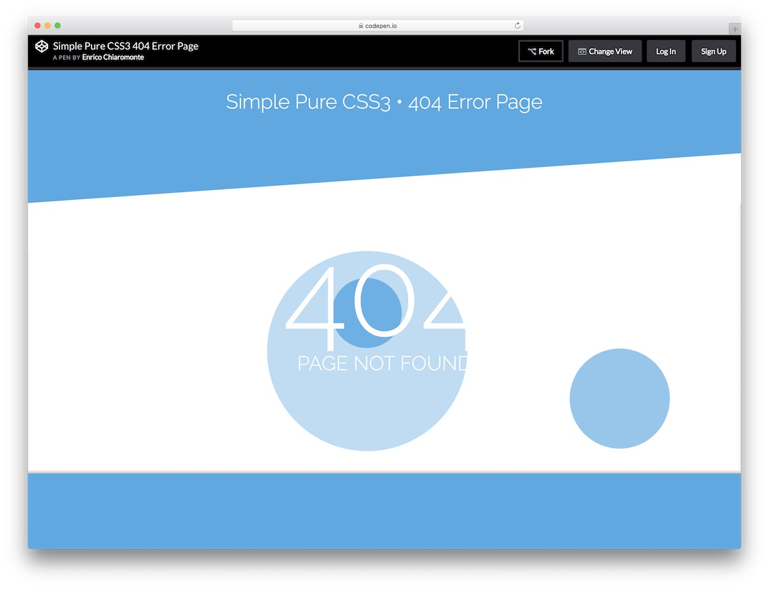 simple pure free 404 error page template