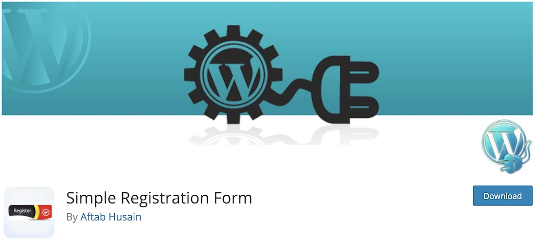 simple registration form free wordpress plugin