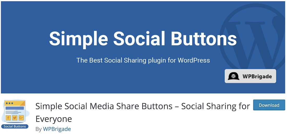 simple social buttons wordpress plugin
